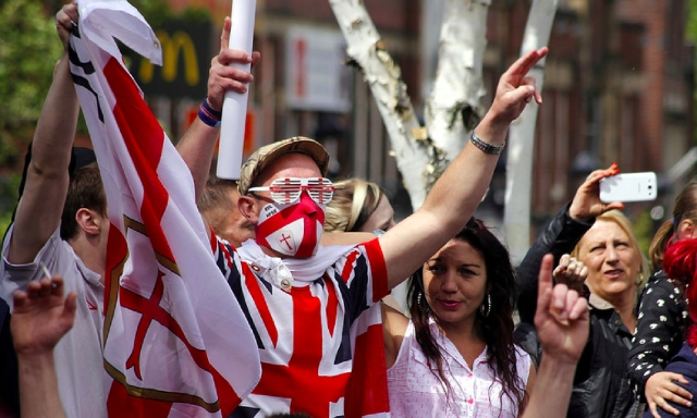 An English Defence League protest. (Photo: Chrisfpage/Creative Commons)